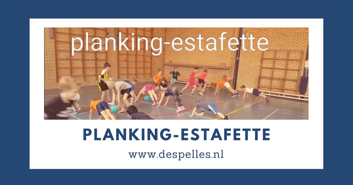 Planking-Estafette in de gymles