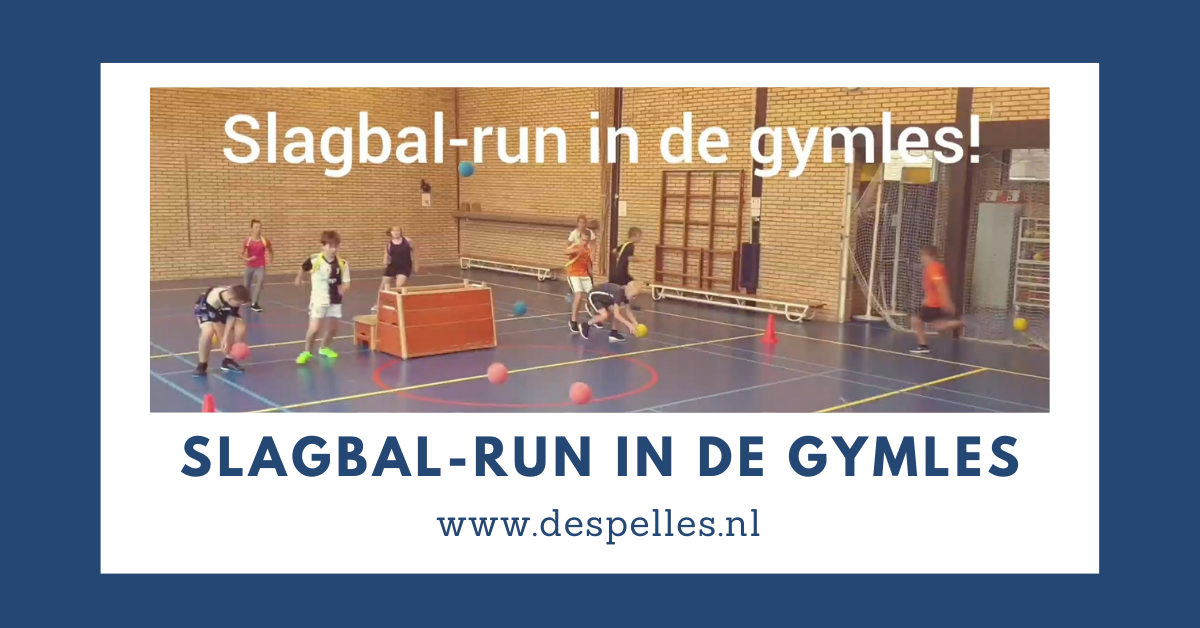 Slagbal-run in de gymles