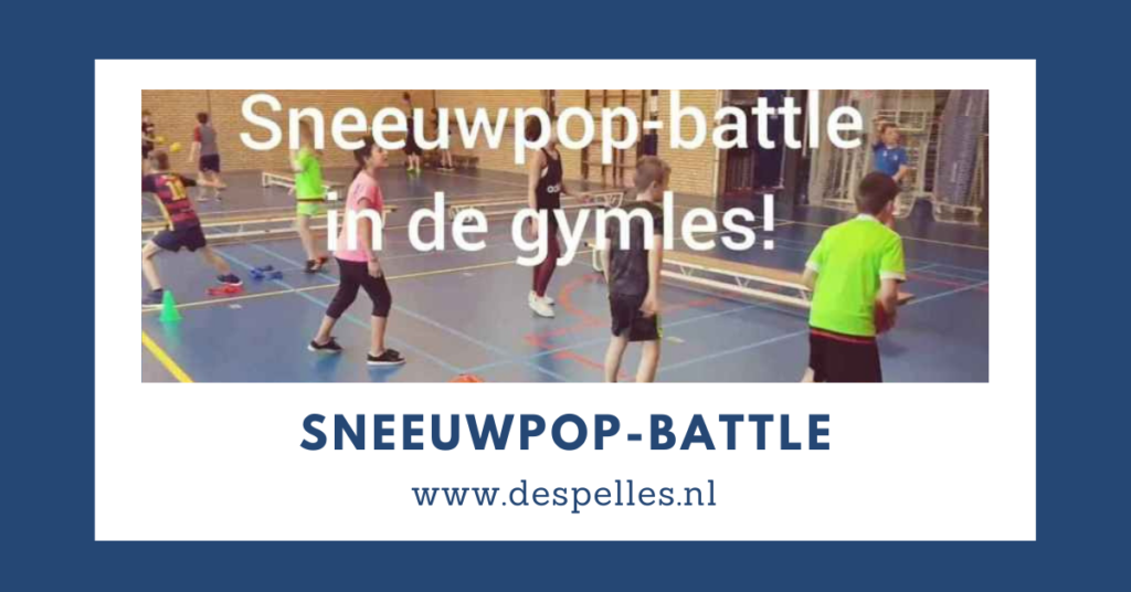 Sneeuwpop-Battle in de gymles