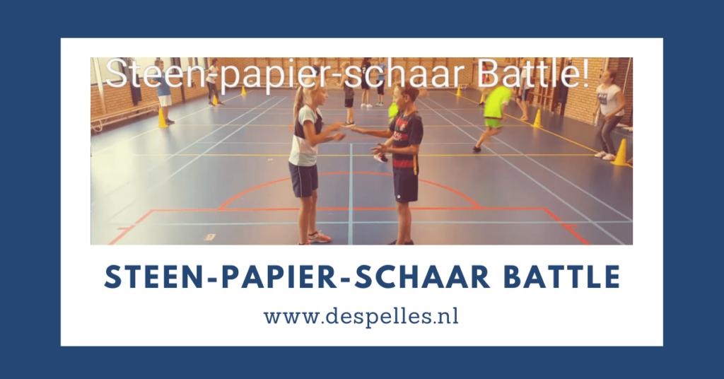 Steen Papier Schaar Battle in de gymles