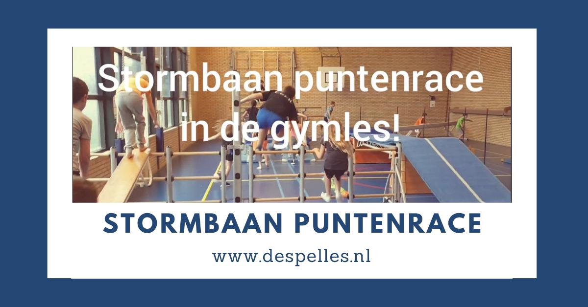 Stormbaan Puntenrace in de gymles