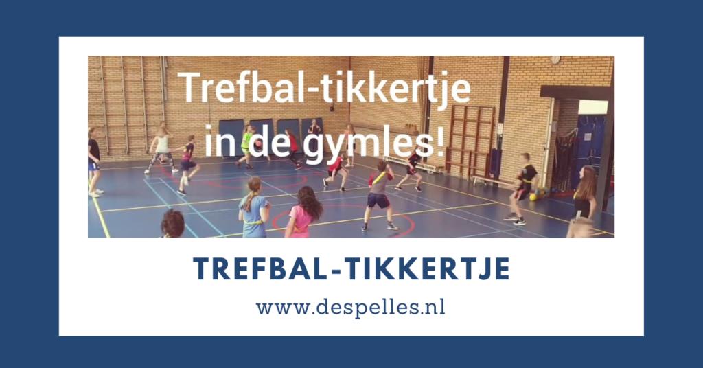 Trefbal-tikkertje in de gymles