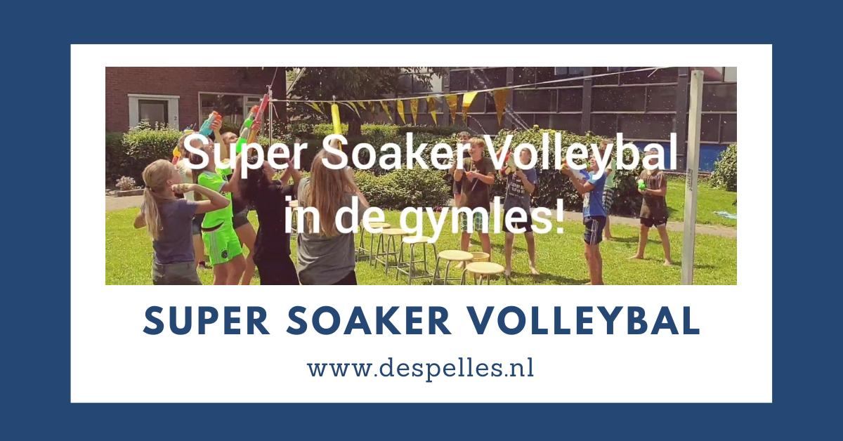 Super Soaker Volleybal in de gymles