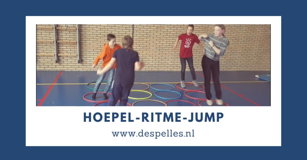 Hoepel-Ritme-Jump in de gymles