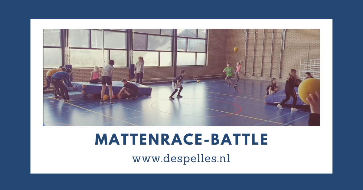 Mattenrace-Battle in de gymles