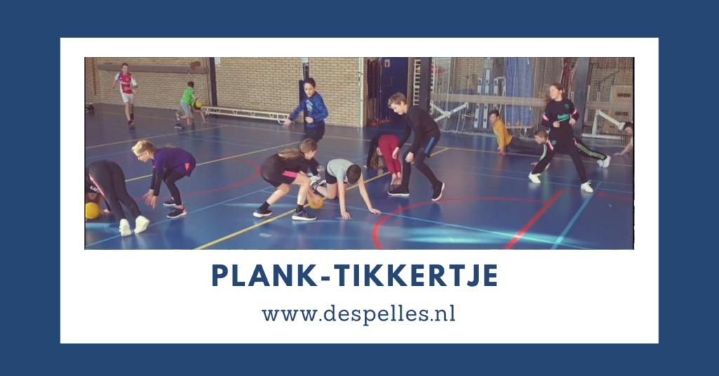 Plank-Tikkertje in de gymles