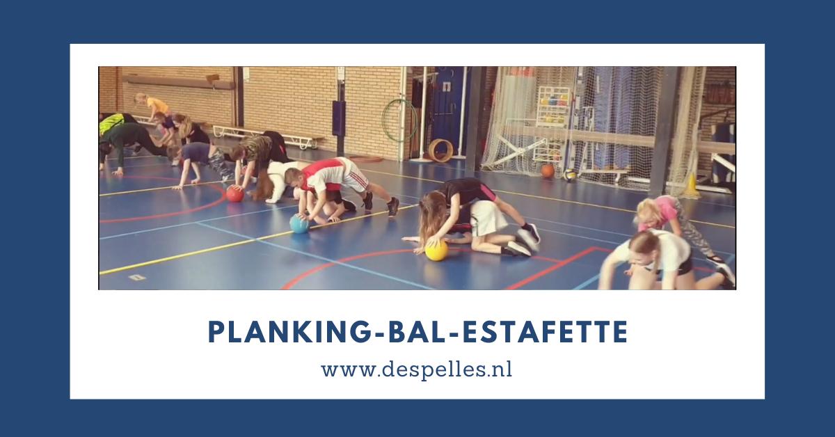 Planking-Bal-Estafette in de gymles