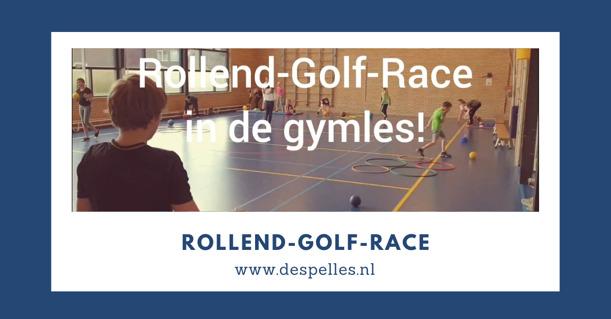 Rollend-Golf-Race in de gymles
