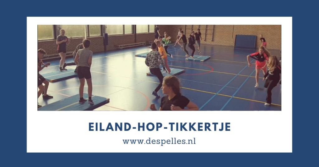 Eiland-Hop-Tikkertje in de gymles