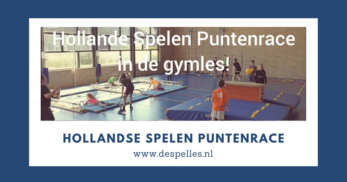 Hollandse Spelen Puntenrace in de gymles