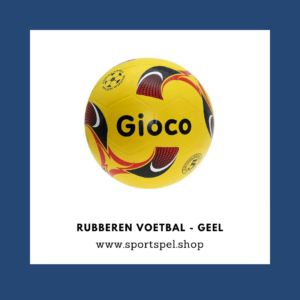 Rubberen voetbal - geel