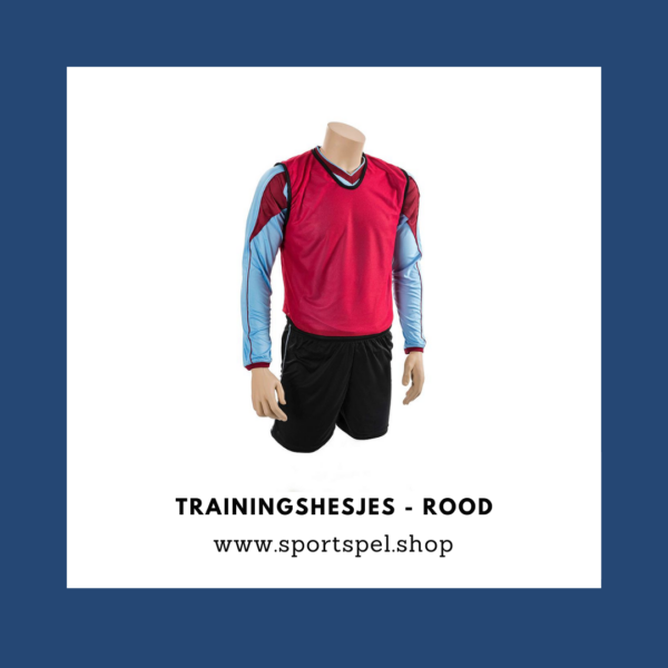 Trainingshesjes - Rood - SportSpel.Shop