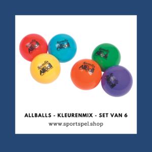 AllBalls - Kleurenmix - Set van 6