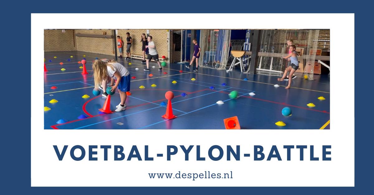 Voetbal-Pylon-Battle in de gymles