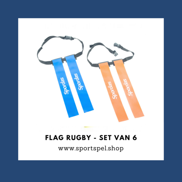 Flag rugby - set van 6 riemen