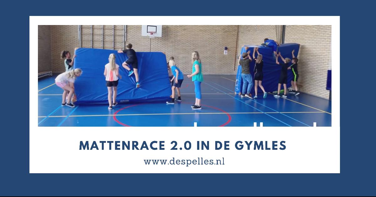 Mattenrace 2.0 in de gymles (website)