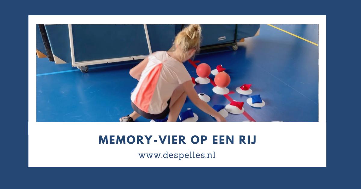 Memory-Vier op een rij in de gymles