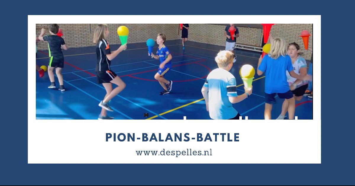 Pion-Balans-Battle in de gymles (website)